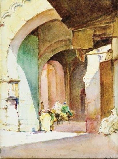 Isidore Rosenstock 1880 1956 A La Sortie De La Casbah D Alger