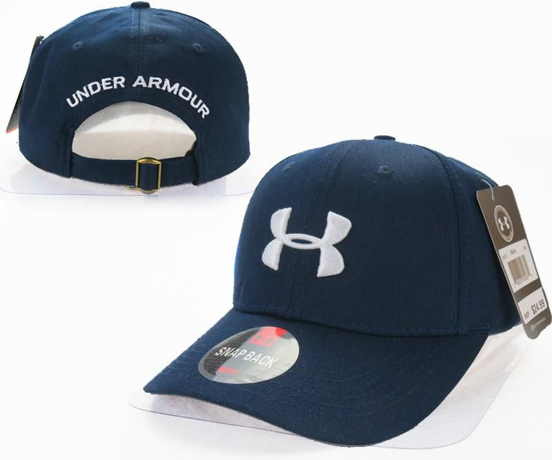48fce0032c925 Mens   Womens Under Armour The UA 3D Embroidery Logo 6 Panel Strap Back  Baseball Adjustable Polo Cap - Navy   White