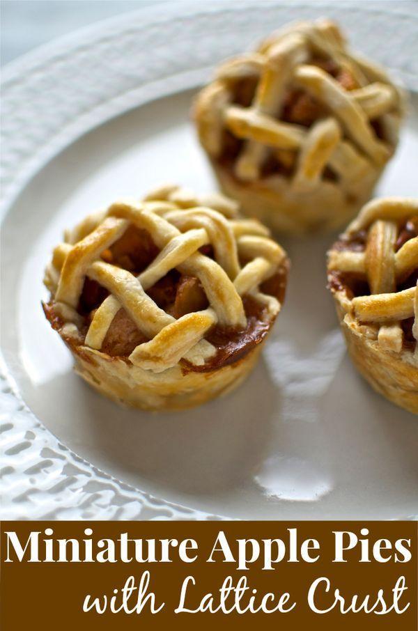 Miniature Lattice Apple Pies recipe
