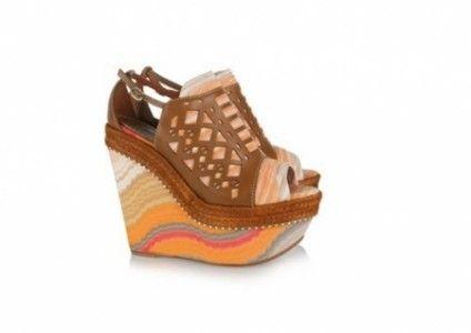 c3d3d4e88e1 Missoni leather and crochet-knit platform sandals funky!