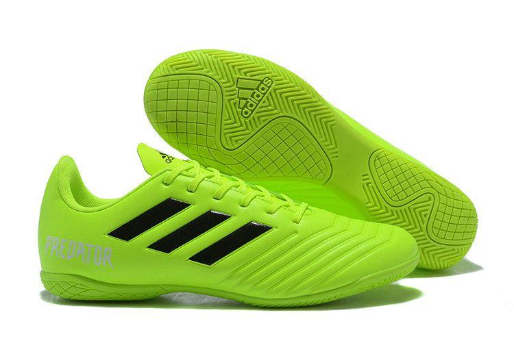 b346d8f4a0 2018 World Cup Men Adidas Predator Tango 18 4 IN Football Shoes Apple Green  Black