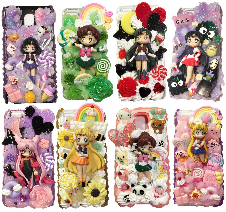 newest 732da 39571 CUSTOM CASE - Sailor Moon Decoden Phone Case | Decoden Phone Cases ...