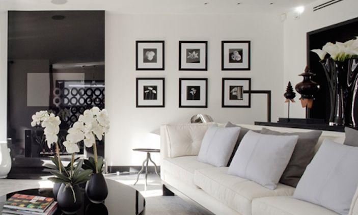 schwarz weiss Contemporary Living Pinterest Weiss, Schwarzer - designer wohnzimmer schwarz