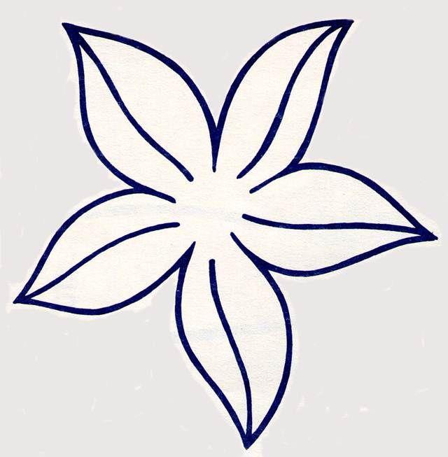 Resultado de imagen para flor de cinco petalos para colorear | Belleza