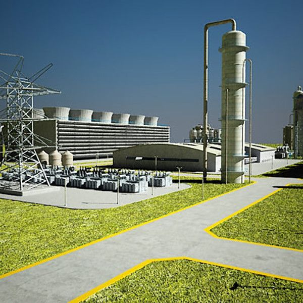 3D Geothermal Power Plant - 3D Model | Infrastructure
