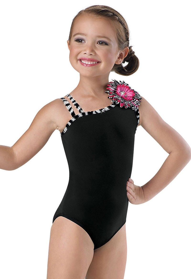 bdfeea0a9 Girls  Zebra Print Flower Leotard  Little Stars