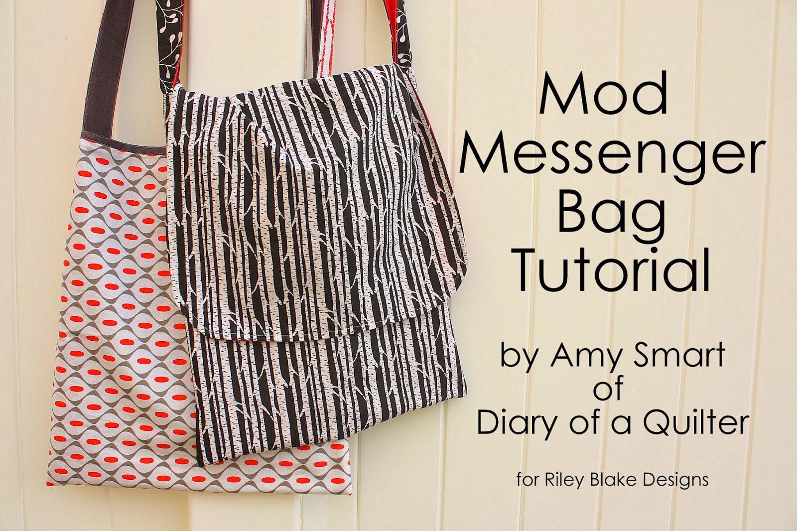 Riley Blake Designs Blog: Project Design Team Wednesday~Mod Messenger Bag