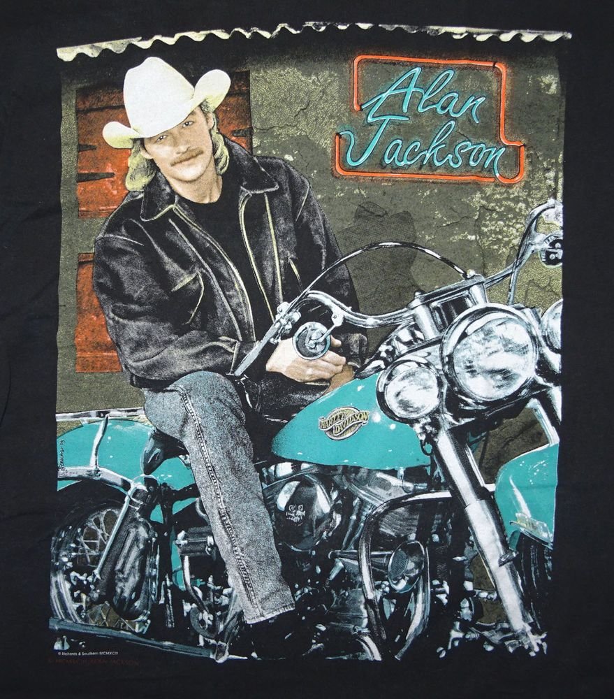 1993 Alan Jackson Lot About Livin T Shirt Xl Vintage Double