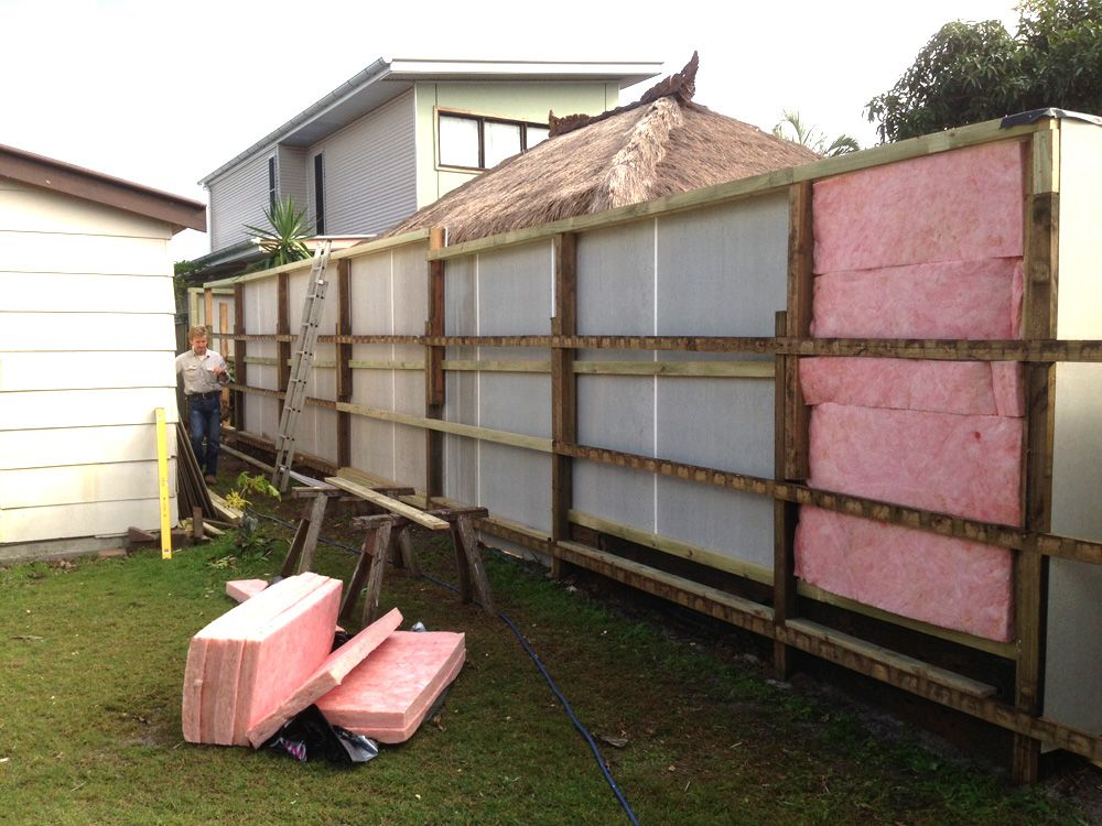 Byron Bay Brush Fencing sound proofing   Byronbaybrushfencing call Dave on  0419692155 sound blocking fences   Sound Barrier Diagram   Decorate  . Exterior Soundproofing. Home Design Ideas
