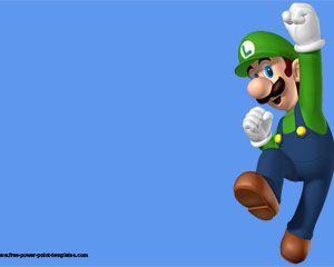 Luigi bros powerpoint template games powerpoint templates luigi bros powerpoint template video game toneelgroepblik Choice Image