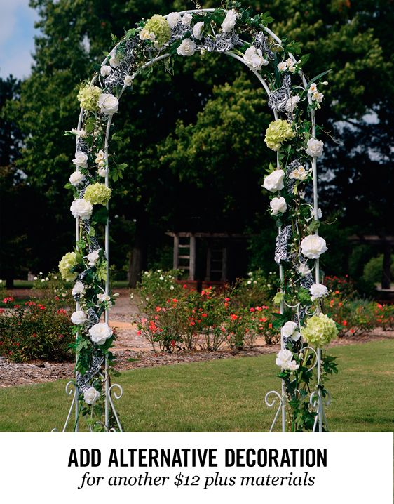 Hobby lobby 40 rental comes in 4 pieces wing nut put together hobby lobby rentals classic arch decoration ideas best free home design idea inspiration junglespirit Images