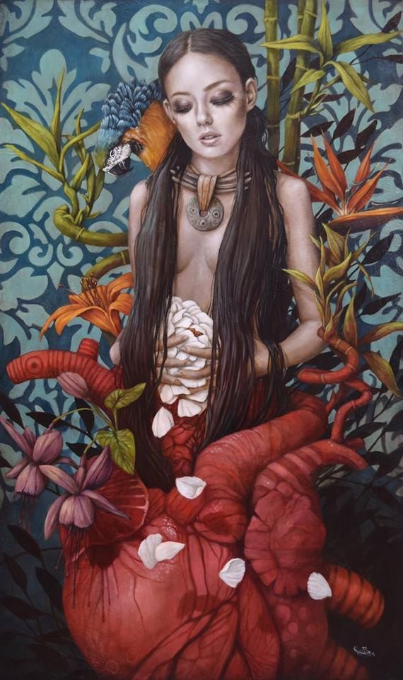 """""""Meditation"""" by Sophie Wilkins. 40 x 60 inches. Oil on canvas http://ow.ly/fh60300Uy8A #Art #AGalleryArtists #SophieWilkins #ContemporaryArt #ModernArt"""
