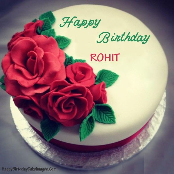 Images Of Cake With Name Rohit Imaganationface