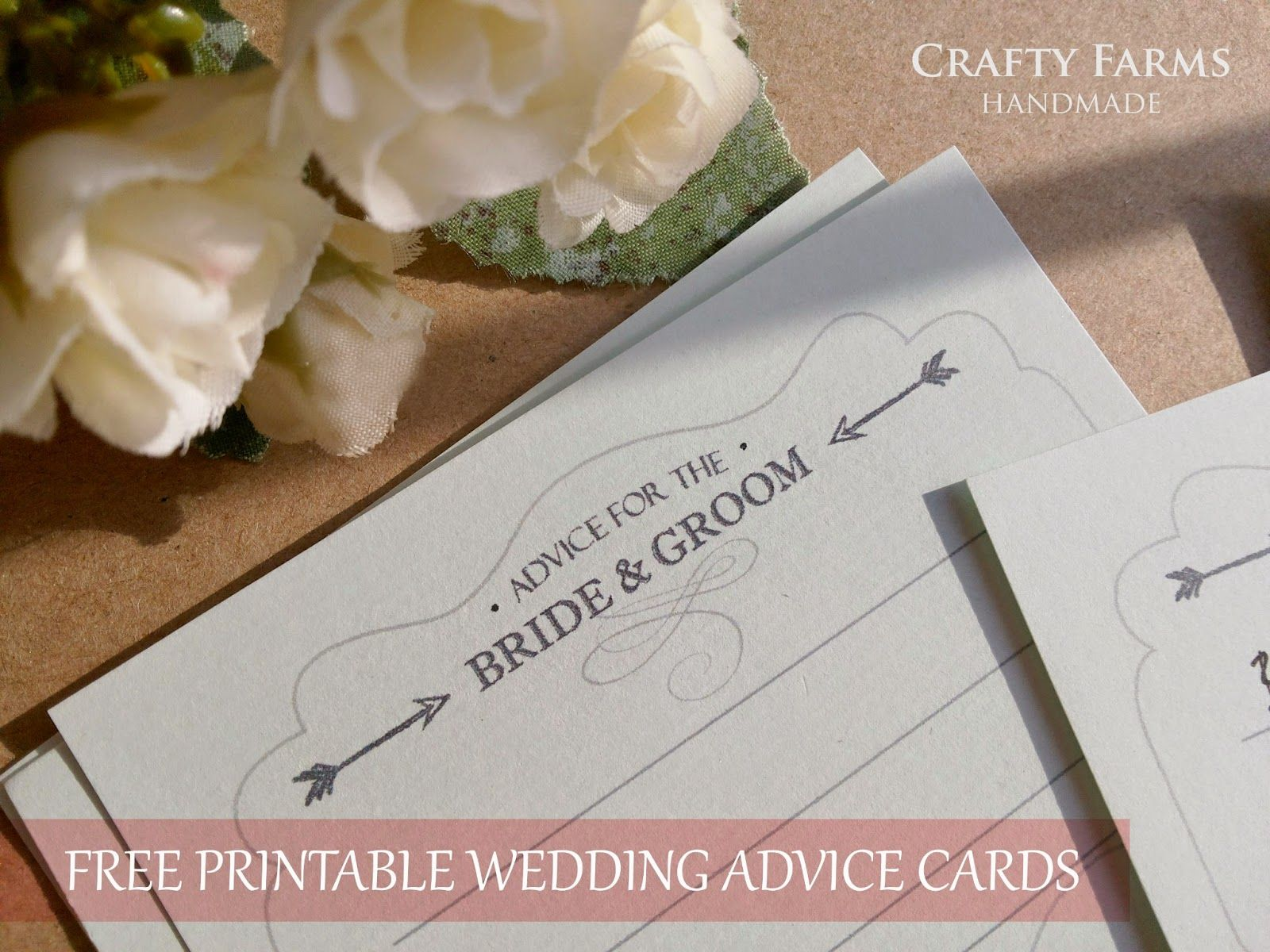 free download printable wedding advice cards | Michael and Maia ...