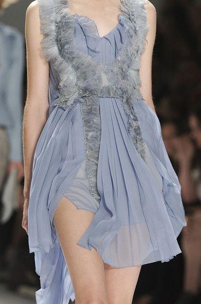 Glamorous Chic Life periwinkle fur dress #ghdpastels