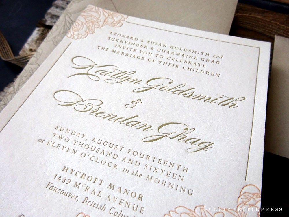 Vancouver Wedding Invitation Designer | Custom Letterpress Wedding ...