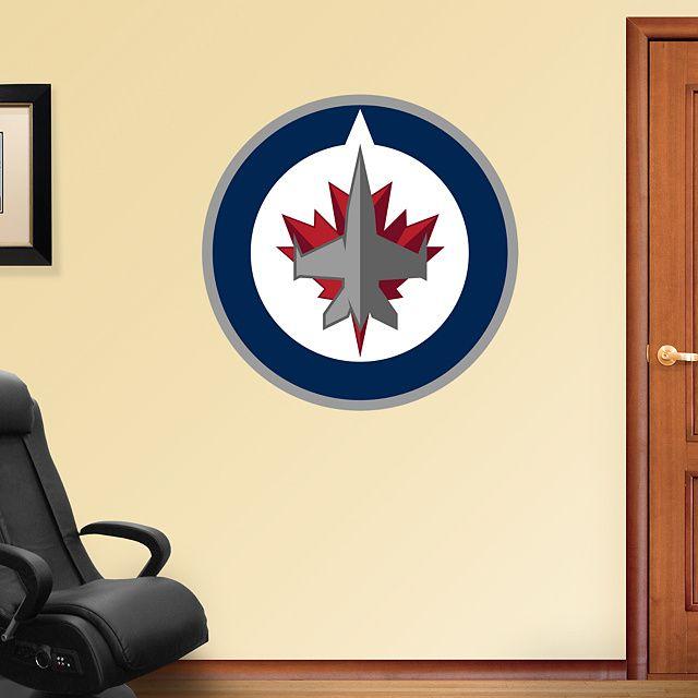 Winnipeg Jets Logo | Wall decals, Jets and Walls