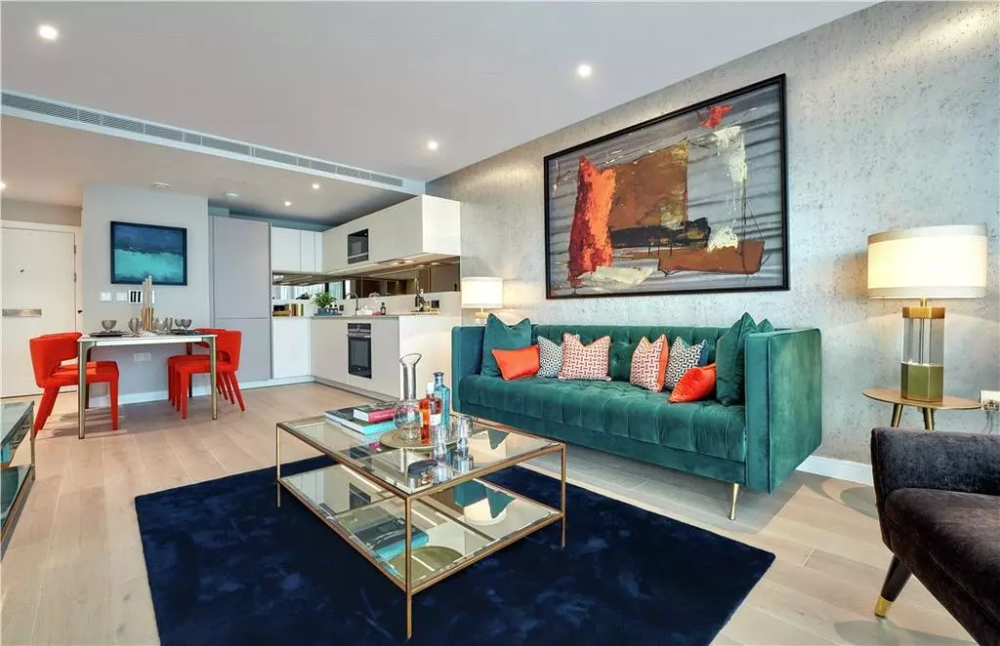 A Graphic, Geometric 500 Square Foot London Rental Flat