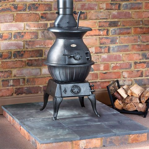 Clarke Potbelly Extra Large - Cast Iron Wood Burning Stove - Machine Mart - Machine Mart
