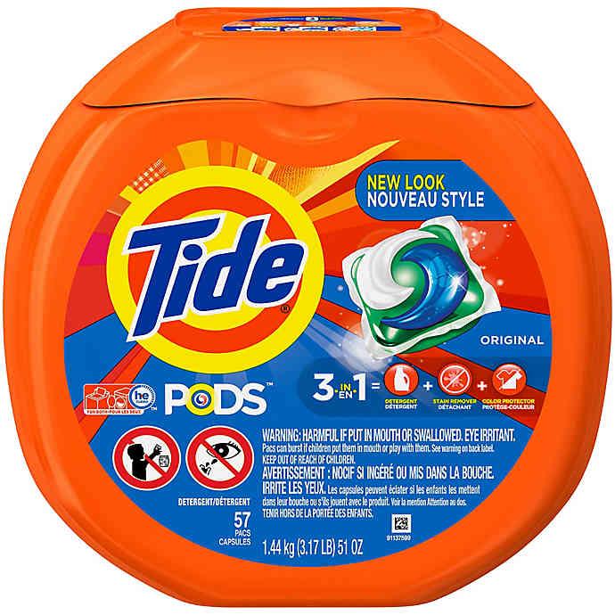 Tide Pods 57 Count Laundry Detergent In Original In 2020 Tide Laundry Detergent Scented Laundry Detergent Tide Pods
