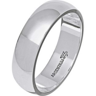 Buy Argentium Silver D-Shape Wedding Ring - 6mm at Argos ...