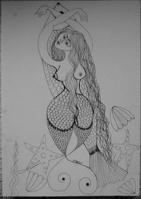 mOnAmOOn, The Siren on ArtStack #monamoon #art