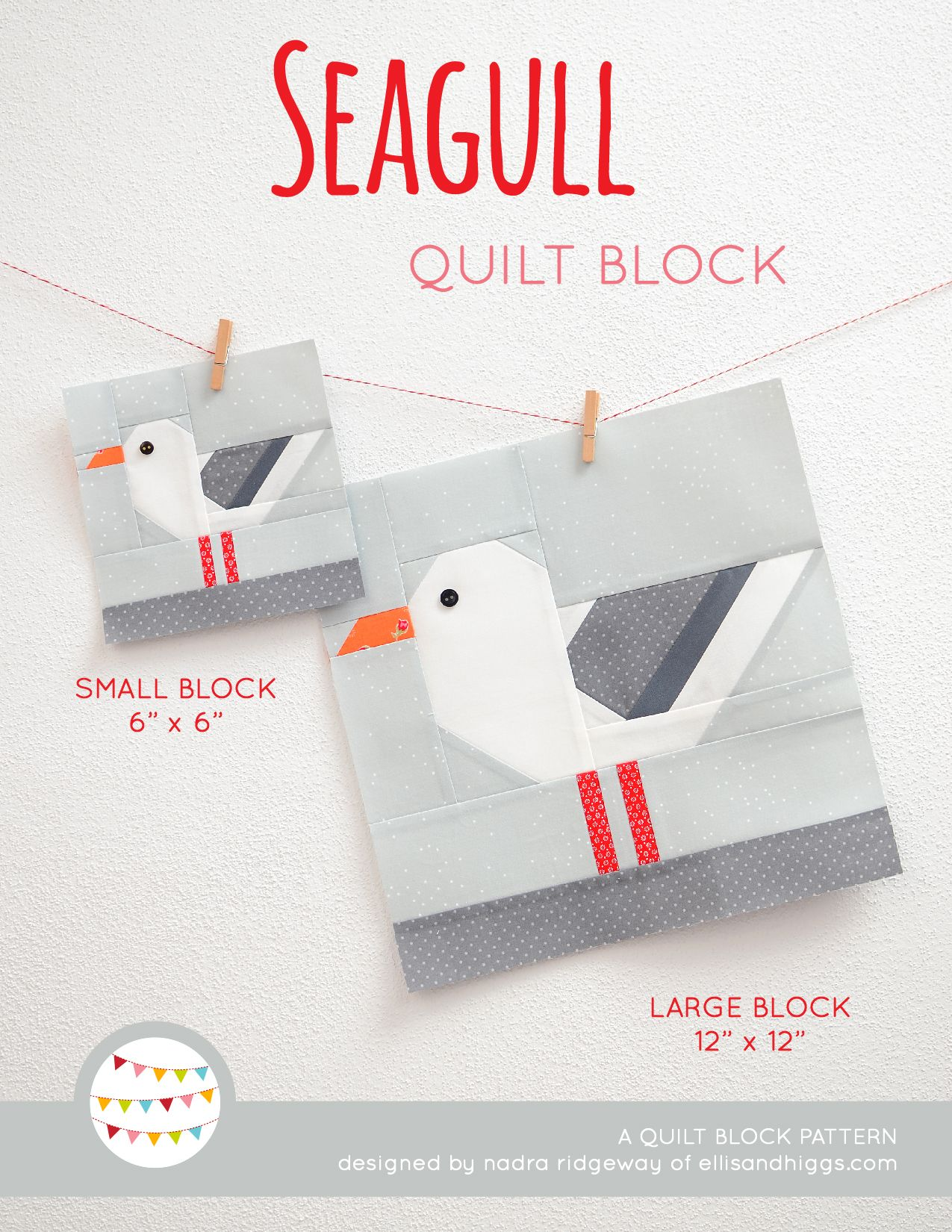Photo of New Nautical Quilt Patterns: Seagull Quilt Block Pattern – ellis & higgs