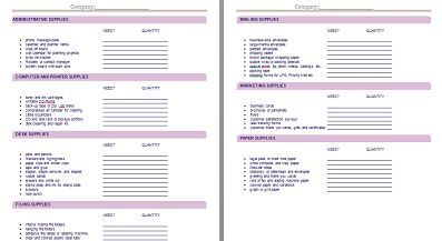 Office Supply Requisition Form  Hr    Business