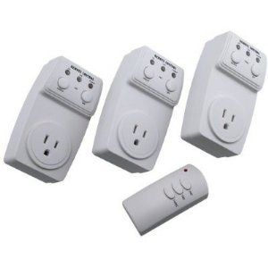 Battery Powered Outlet >> Wireless Remote Control Outlet Switch Socket 3 Pack 3