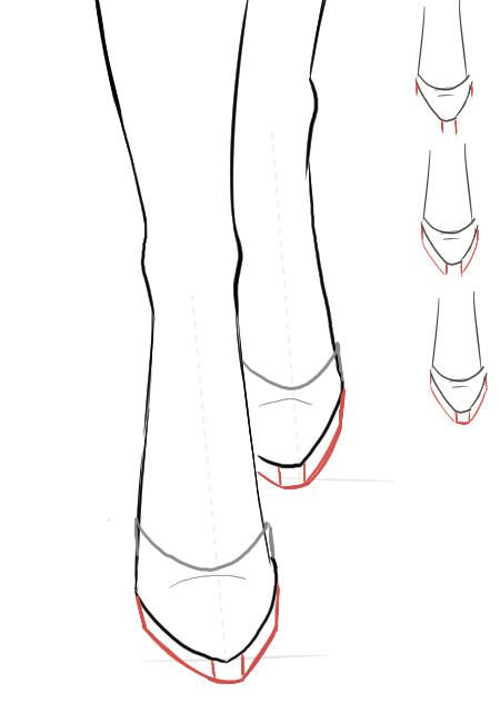 Perfect Vector Set Of Sketch Women Shoes. Side Front And Top View Stock Illustration - Illustration ...