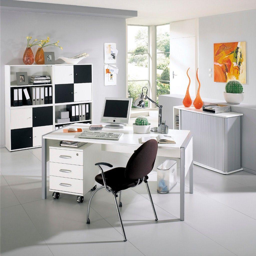 Schreibtisch In Weiss Aus Der Serie Black And White Von Rohr Bush