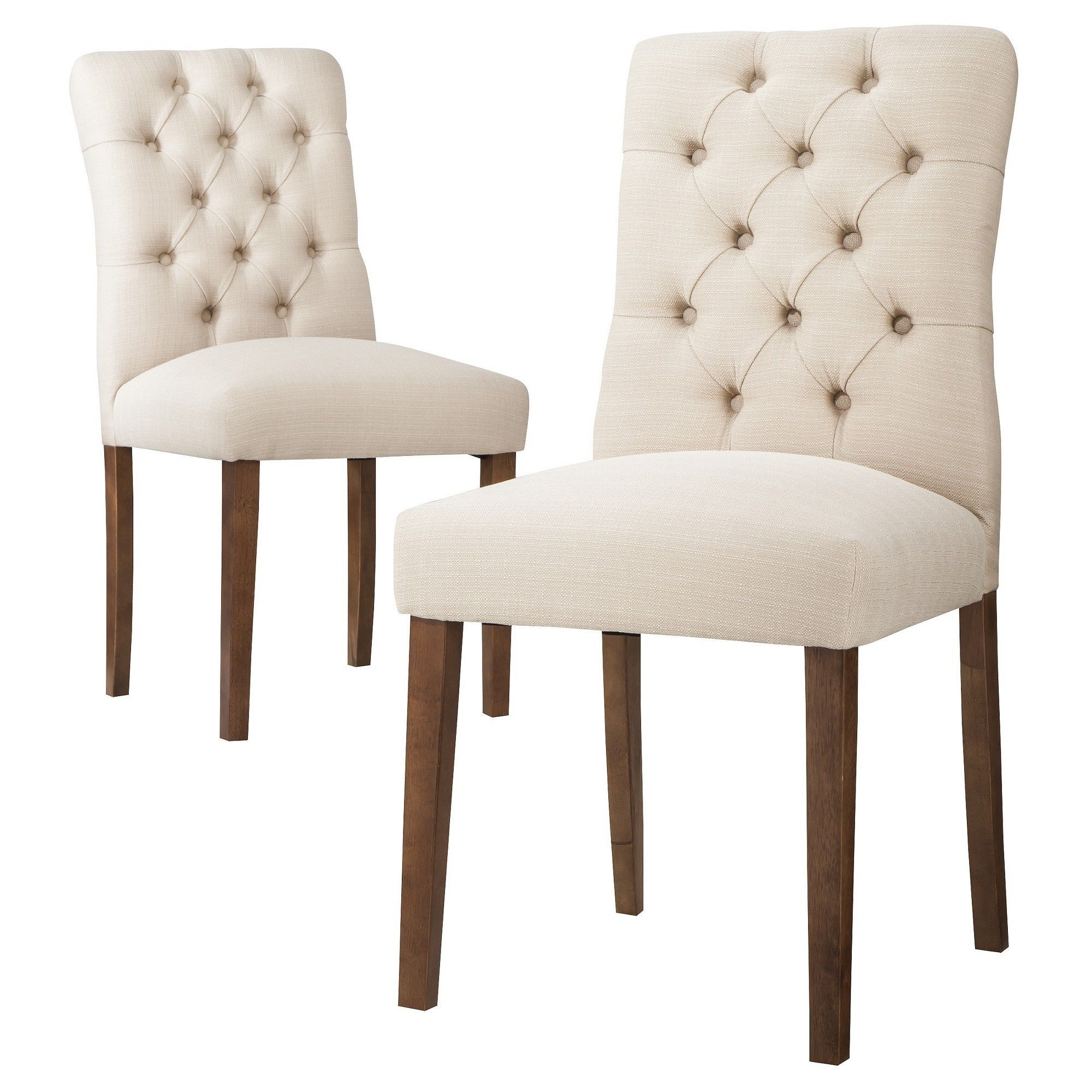 Set Da Cucina Exclusive Brookline Tufted Dining Chair Oyster Set Of 2 Threshold