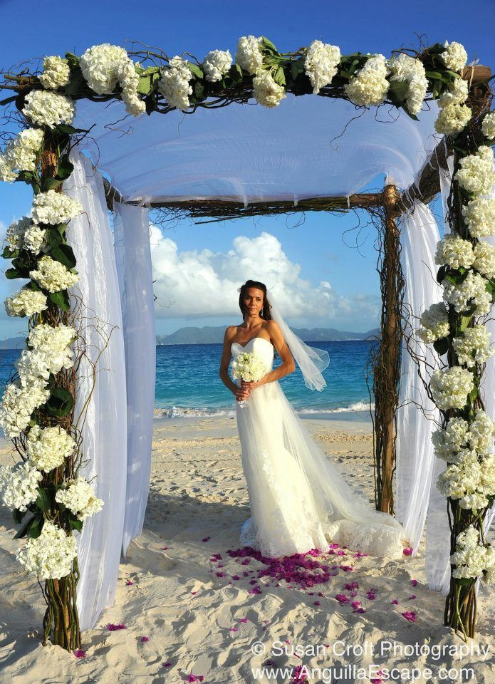 Anguilla wedding on the beach, St. Martin as a backdrop... beautiful.