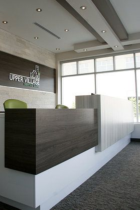 Color Scheme For Front Desk Like The Wood And Light Rock Together Might Be Modern Reception Deskdental