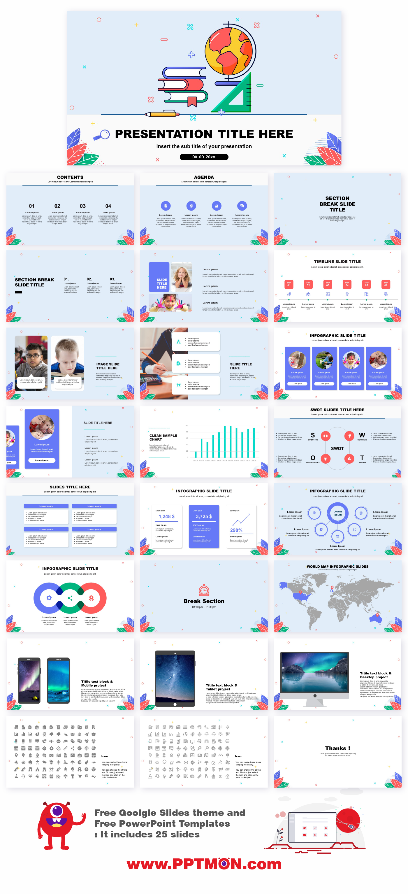 Education Design Free powerpoint templates and Google