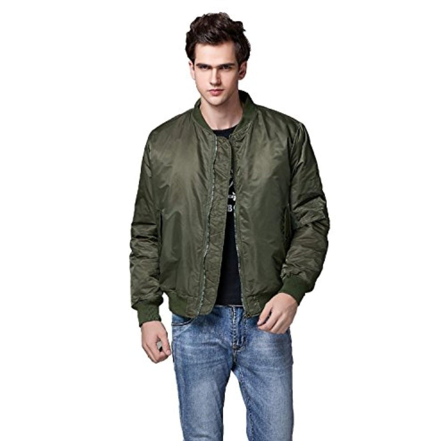 Neo Wows Men S Ma 1 Slim Fit Bomber Flight Jacket Thick Brought To You By Avarsha Com Fitted Bomber Jacket Flight Jacket Mens Bomber [ 1482 x 1500 Pixel ]