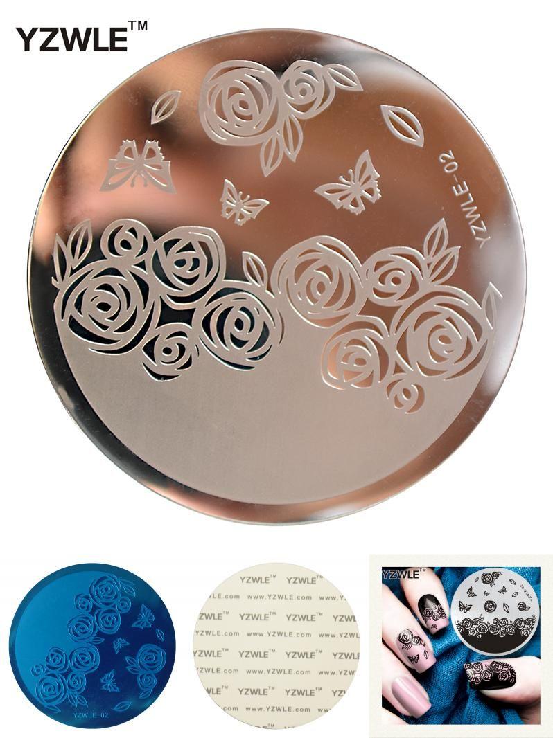 Visit to Buy] YZWLE 1 Sheet Stamping Nail Art Image Plate, 5.6cm ...