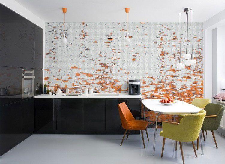 Originali decorazioni per pareti di cucina in diversi stili