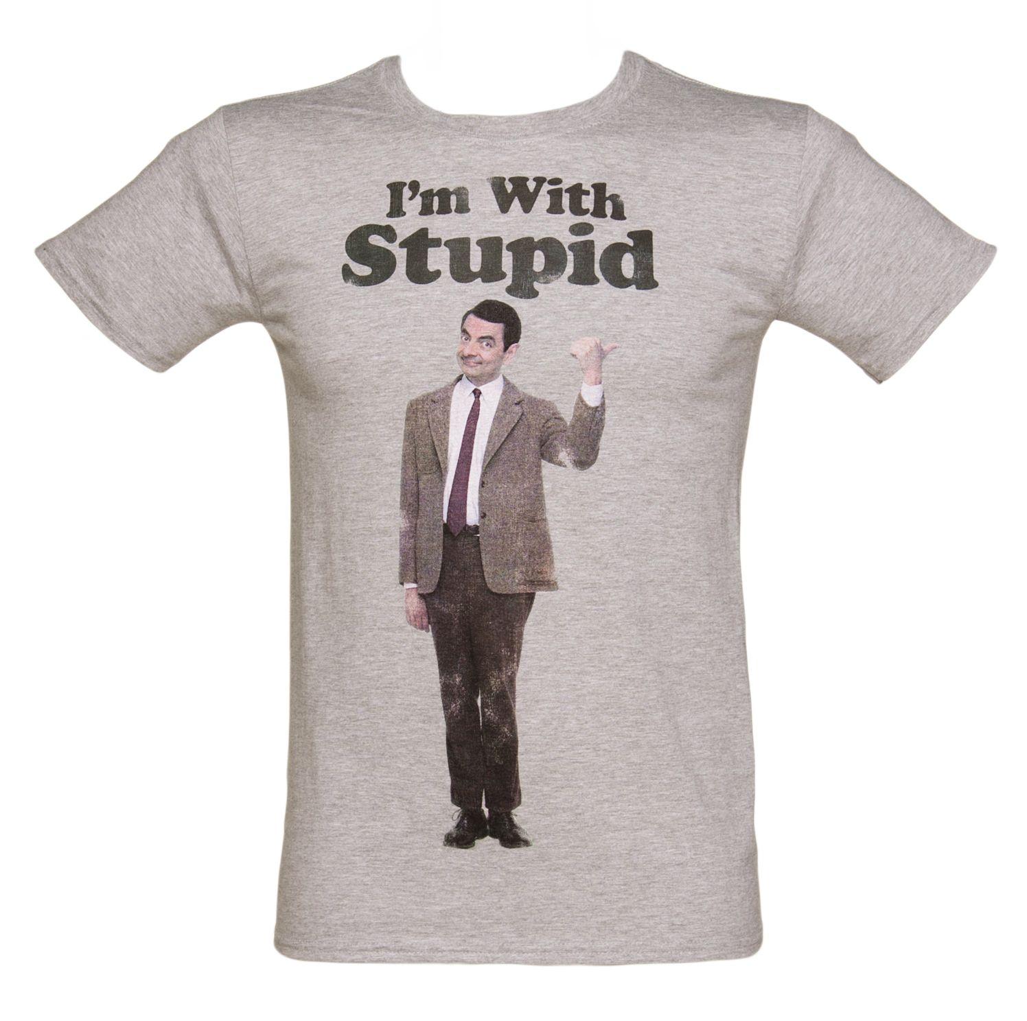 Men's #MrBean I'm With Stupid T-Shirt from TruffleShuffle xoxo