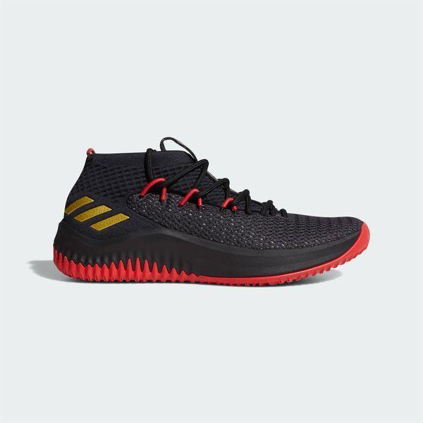 big sale 83964 084c7 adidas Dame Lillard 4 Dame Time Mens Basketball Shoes Bounce Black Red  BW1518  Basketball Shoes  Pinterest  Adidas basketball shoes, Adidas dame  and ...