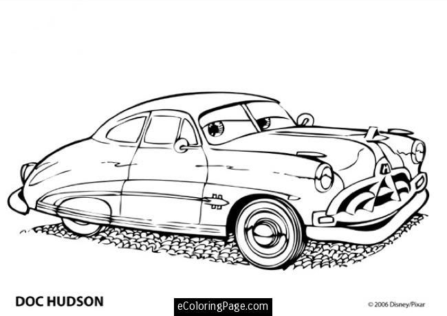 Coloriage Flash Mcqueen Et Doc Hudson.Cars 2 Printable Coloring Pages Cars Movie Doc Hudson