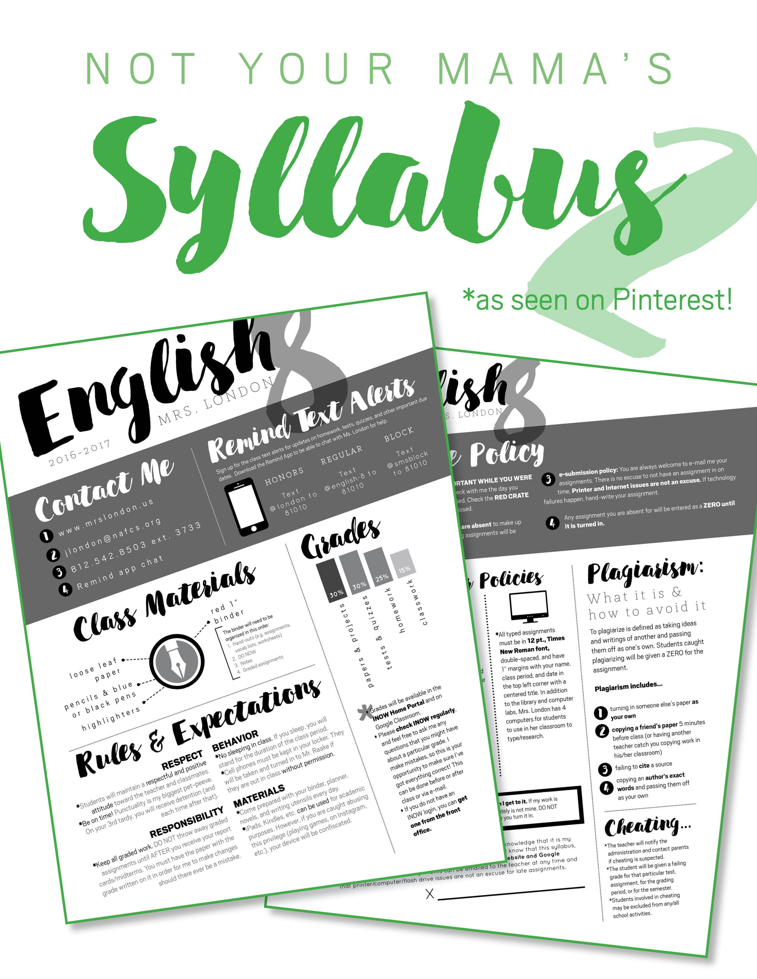 Nontraditional Syllabus Template #2 (software: InDesign/LucidPress ...