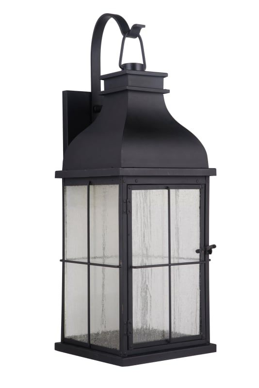Craftmade Za1824 Mn Led Midnight Vincent 25 Tall Integrated Led Outdoor Wall Sconce In 2020 Outdoor Wall Lighting Craftmade Outdoor Wall Lantern