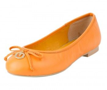 Orange Beeny Ballet Flats.