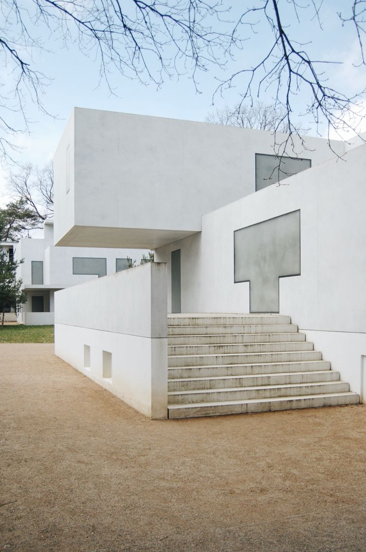Walter Gropius House in Dessau reconstructed by Bruno