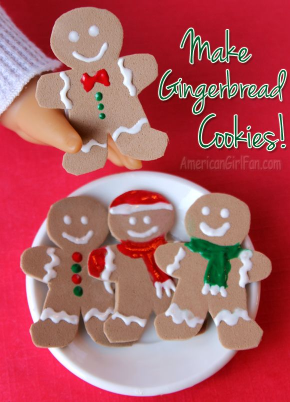 American Girl Doll Gingerbread Cookies #americangirldollcrafts