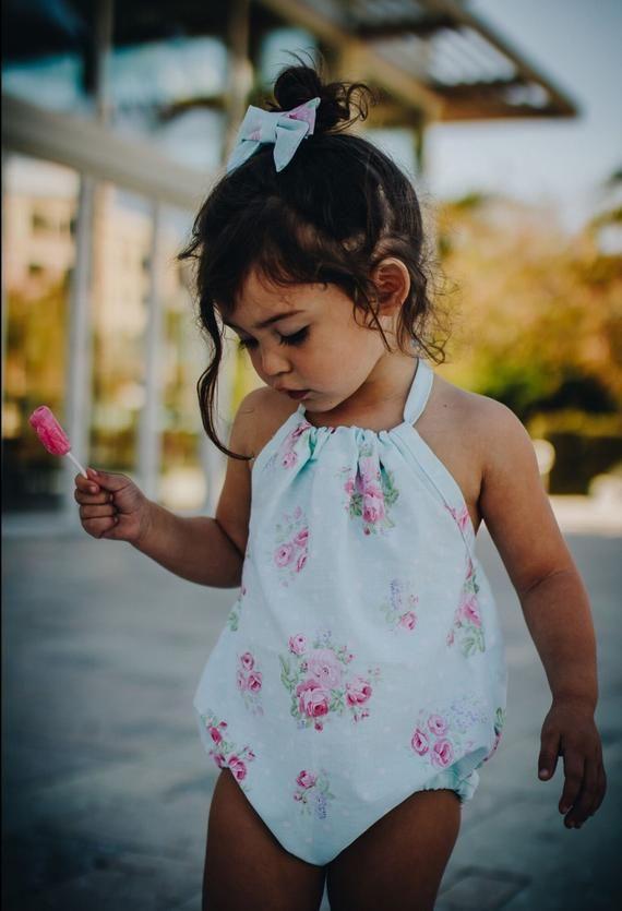 8de51915470 Floral Romper. Pink