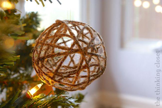 30 DIY Rustic Christmas Decorations Twine, Ornament and Holidays - christmas decorations diy