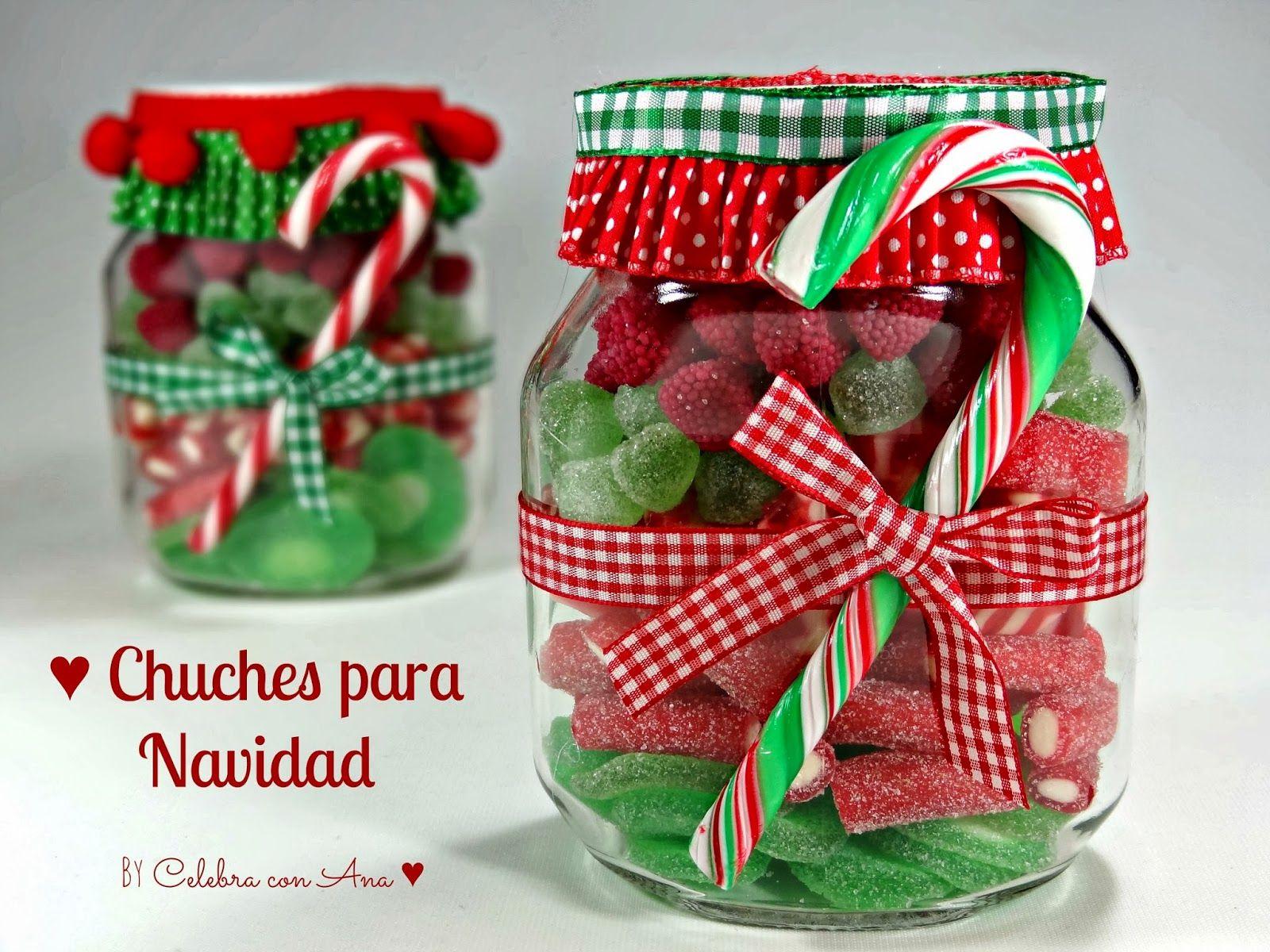 Botes de chuches para navidad navidad christmas for Adornos navidenos para regalar