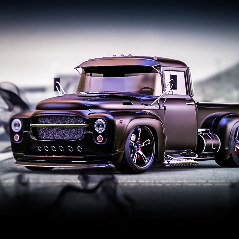 Pickup From Olad Soviet Truck ZIL-130. Steampunk And